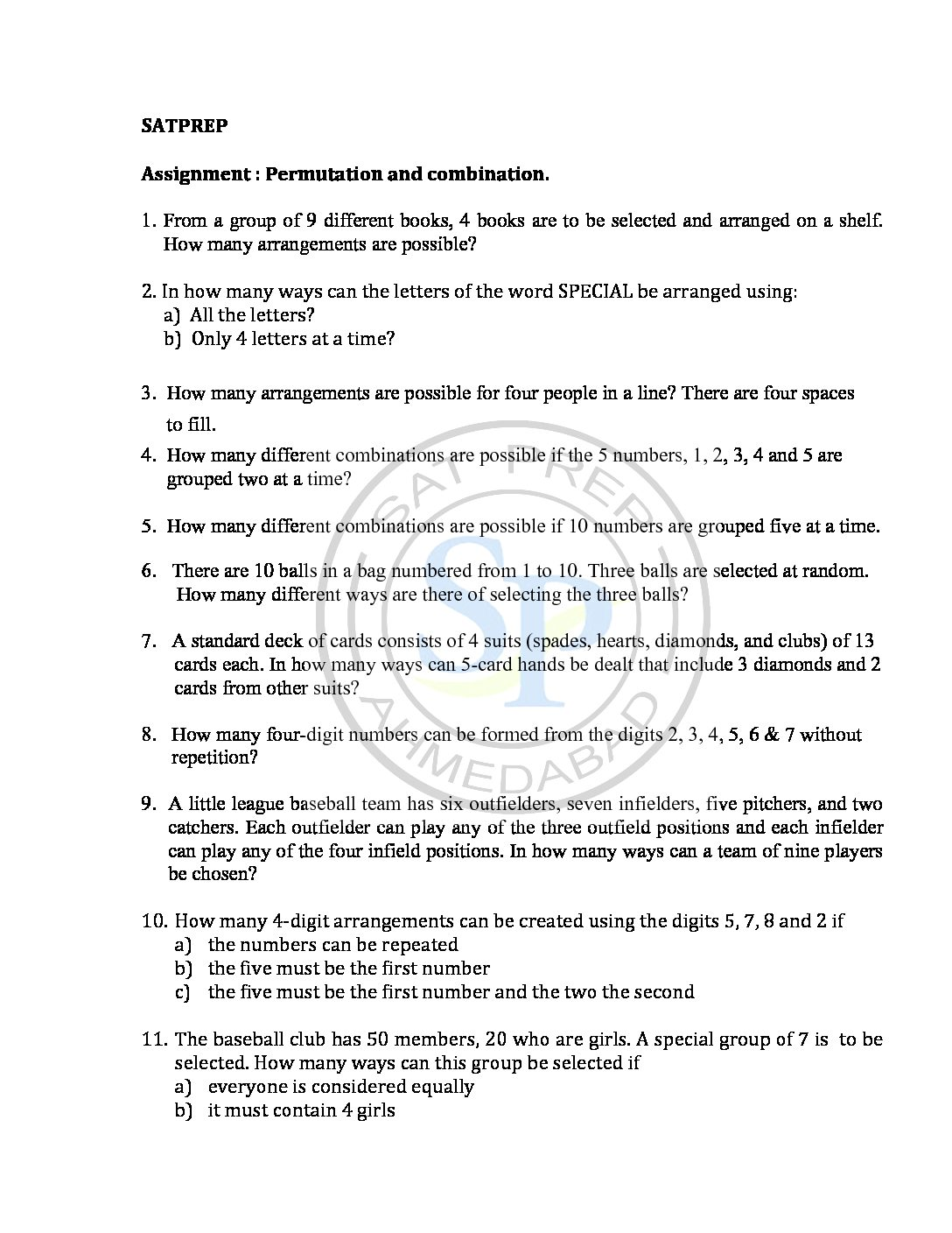 Combination and permutation Archives - SAT PREP