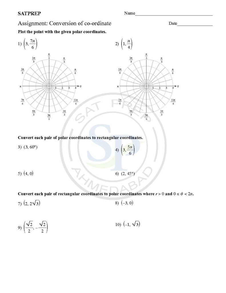 polar to rectangular conversion is from AP calculus , SAT