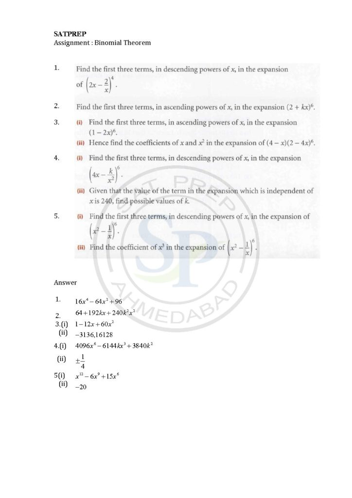 binomial theorems concept of syllabuses AS/A-level,IBDP Math