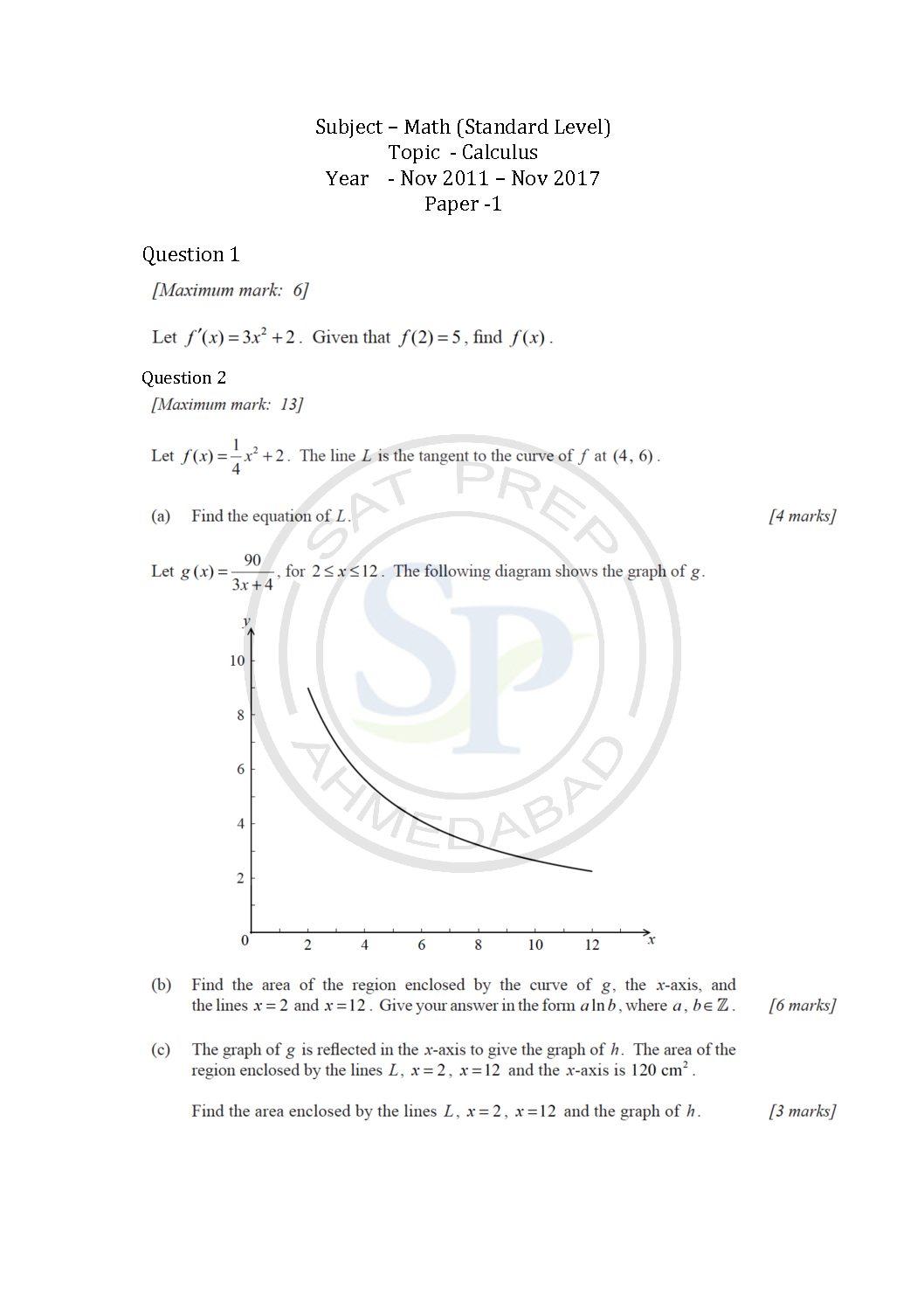Calculus Archives - SAT PREP