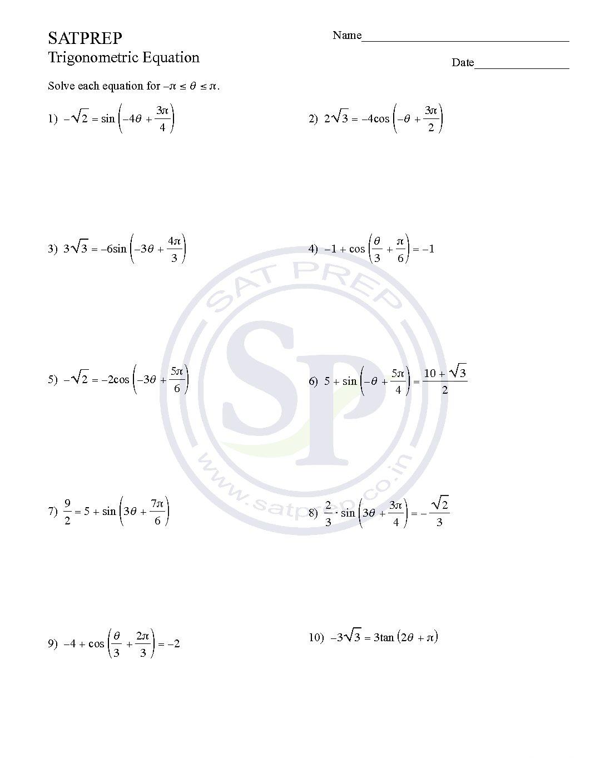 Trigonometric Archives - SAT PREP